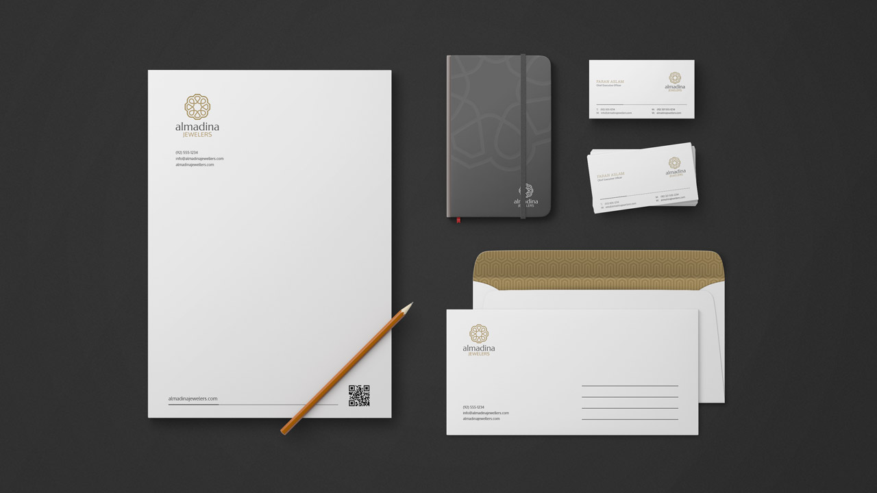 Al-Madina Jewelers - Stationary Design