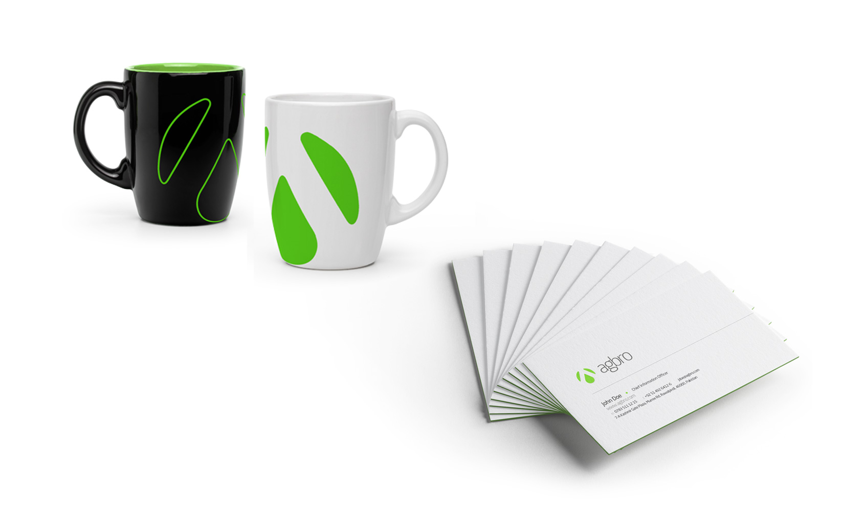 Agbro Group - Branding - Mugs and Business Cards