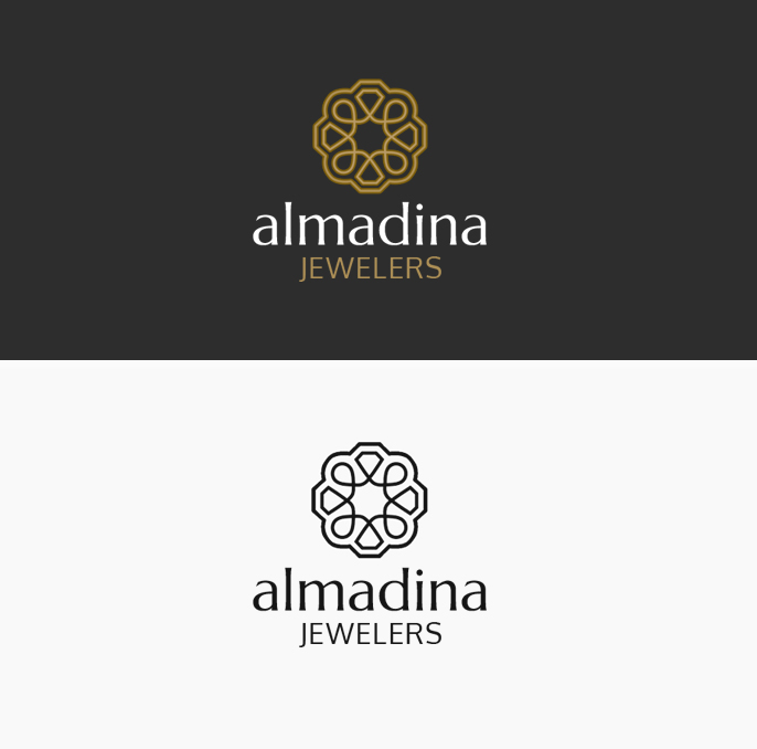 Al-Madina Jewelers Logo Mark Variations