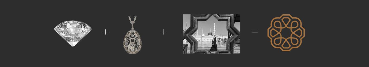Al Madina Jewelers - Logomark Process