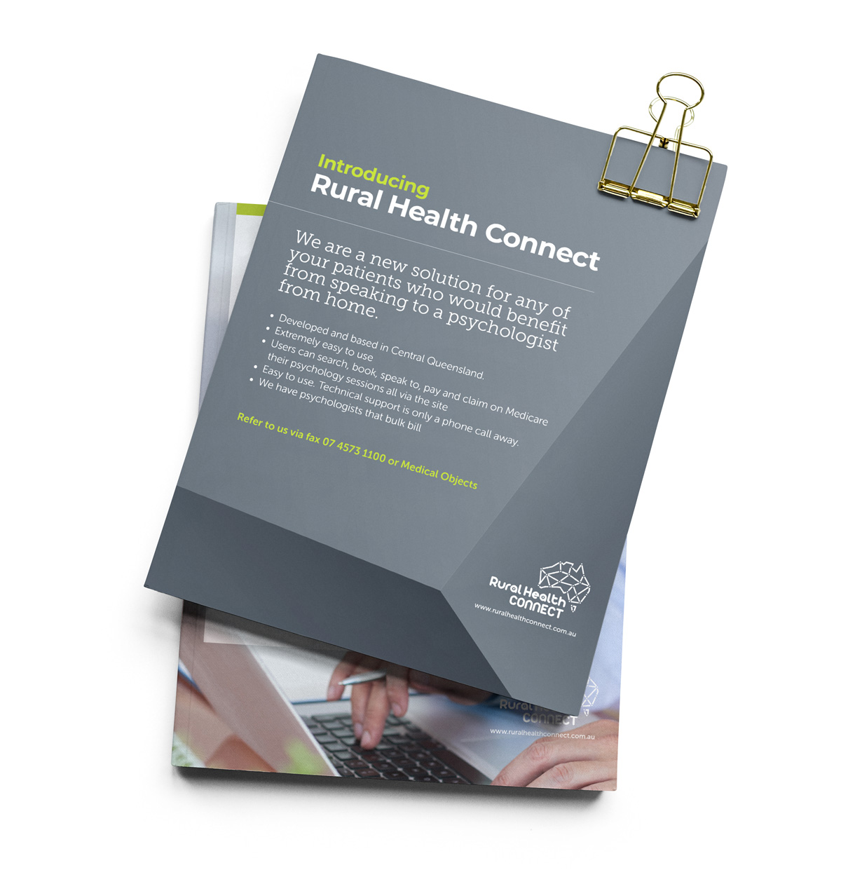 Rural Health Connect - Print Document Design