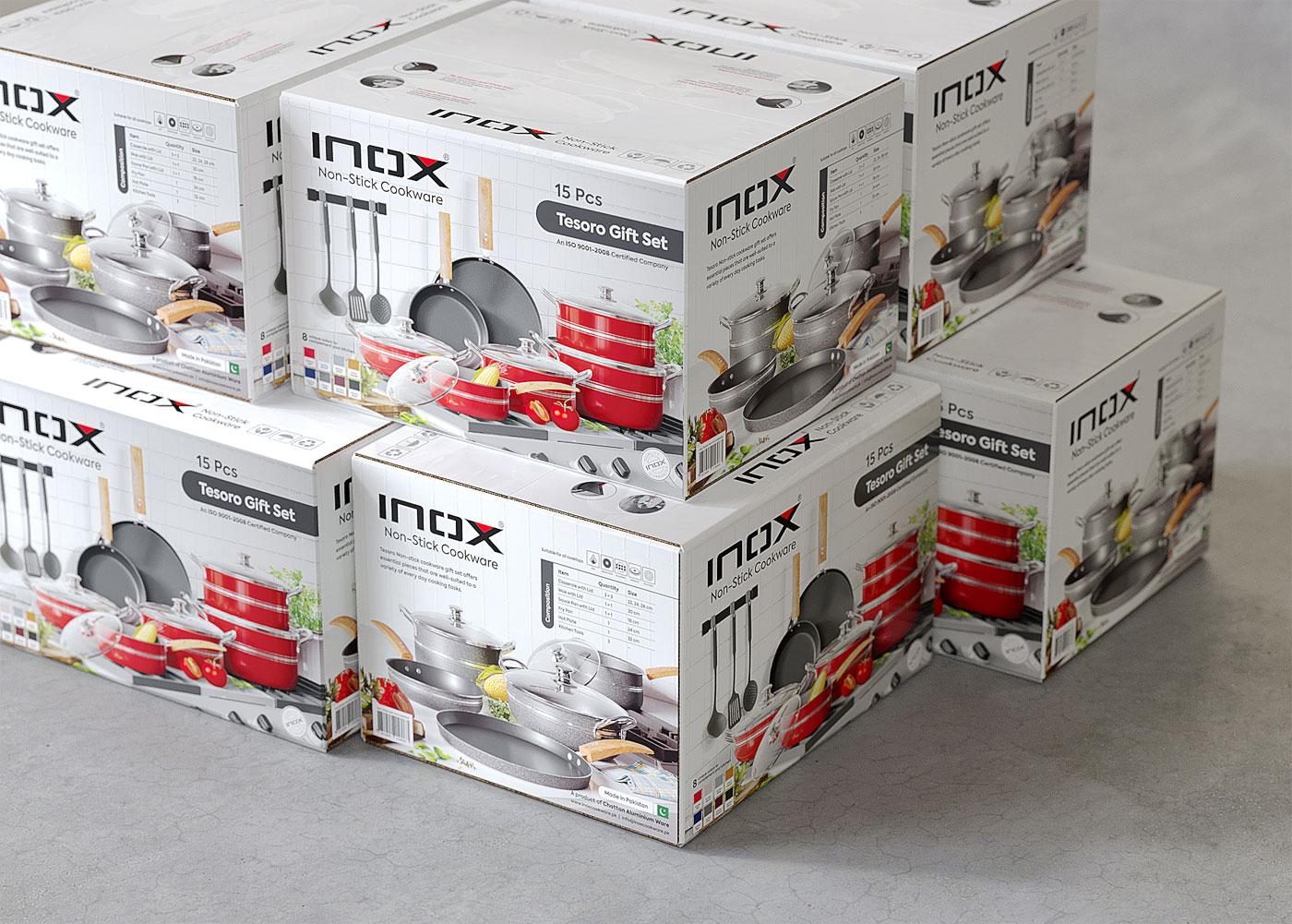 Inox Cookware Packaging Design Entwino Design